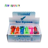 Waxmaid 4.3 pulgadas Silicona congelable Cuchara de hielo Pipa de fumar Six colores mezclados con una nave de caja de regalo de CA Warehouse