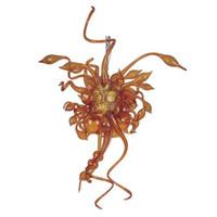 Amber Color Murano люстры для художественных украшений Дом дизайн Турецкий стиль взорвался стеклянный мини-смарт-подвесные лампы. Lr1129