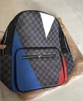 e9f10b52a059 Europa Designer Marca N41612 Damier Cobal Mens Mochilas de Alta Qualidade  saco de Escola