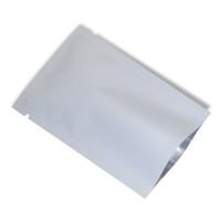 200 adet / grup Mat Beyaz Mylar Folyo Vakum Paketleme Çantası Üstü Açık Isı Mühür Alüminyum Folyo Çanta Şeker Snack Paketi Örnek Saklama Çantası