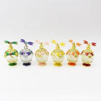 25 ml Parfüm Ätherisches Öl Vintage Leere Mehrwegflasche Graven Metall Libelle Glasbehälter Geschenk Dekoration