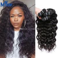 Mikehair remy capelli brasiliani 3 bundles deep body wave weaves weaves 8-30 pollici economici peruviani indiani estensioni dei capelli malesi per le donne nere