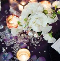 Decoración de fiesta 4.5 mm artesanías de bodas Acrílico Diamante Confeti Mesa Scatters Borrar cristales Centro de centros Eventos Festivos Suministros