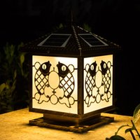 Solar Power Post Lampes Lumineux Équujet à l'eau Lumières Luminaires Énergie Énergie Lampes solaires LED Post Éclairage pour Villa Deck Yark