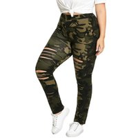 e01adb1eb56f8 Army Green Camouflage Leggings Women Plus Size 5XL Fitness Leggings  Clothing Print Hole Casual Sexy Workout Leggins Mujer