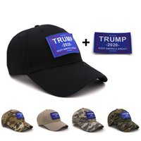 Berretto da baseball Trump Camouflage cappello da baseball Keep America Grande 2020 Hat Letter sticker Snapback da viaggio all'aperto Beach Party Cap 11styles