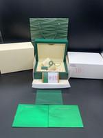 Rolex Top Quality Verde Assista Case caixa de presente para 116.610 relógios de cartão Booklet tags e artigos em inglês relógios suíços Caixas Bolsa Caso