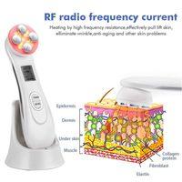Portable RF Photon LED Skin Rejuvenation EMS Mésothérapie Radio Fréquence faciale électroporation pour la peau Soins de la peau Resserrement