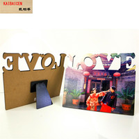 Fashion DIY Sublimation Blank MDF phase-plate-flat top Photo Frame For Heat Transfer Press Machine Gift