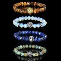 Moonstone Bead Bracelet Natural Gemstone Chakra Balanceamento Meditação Difusor de Óleo Essencial de Cristal Pulseira Presente dos Namorados