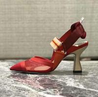 Kadınlar Roman Colibri Slingback Mesh Hakiki Deri Colibri Orijinal Kutusu Kırmızı Moda işaret parmak Ayakkabı 35-40 pompaları