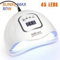 Jewhiteny 80W / 54W SUNX Plus UV Lamp Nail Осушитель 42 PCS СИД ВС света светодиодные лампы для ногтей для отверждения УФ-гель для ногтей ЖК-дисплей LY191228