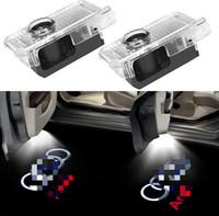 Logo Car LED Porta luz laser projector acende Santo Sombra Bem-vindo Lamp Fácil instalação para Audi A1 A3 A4 A5 A6 A7 A8 Q3 Q7 R8 RS TT S
