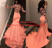 Южноафриканский 2019 сексуальные атласные платья русалки выпускного вечера Дубай арабские черные девушки длинные вечерние платья вечернее платье с длинным рукавом