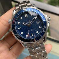 Męskie Mechaniczne Profesjonalne James Bond 007 Blue Automatic Ruch Watch Męskie Mężczyźni Zegarki Wristwatches Moda