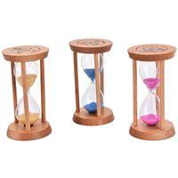 Cadre en bois Sandglass sable en verre Hourglass Accueil Minuteur Horloge cadeau Décoration intérieure 3 couleurs Vente chaude