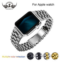 Para Apple Watch Todas las versiones 38mm 42mm Correa de reloj de acero inoxidable clásica iWatch Apple watch4 banda 40mm 44mm Correa Loop Band Correa