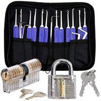 17 шт. Инструменты для выбора замка набор Professional с 2 четкой практикой Учебные замки замки замки для замка инструментов для начинающих PRO Locksmith