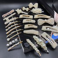 Design Black Beautiful Symulowane Perły Spinki Do Włosów Biżuteria Banana Klipy Włosów Akcesoria Dla Kobiet