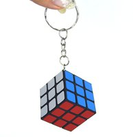 3*3*3CM Min Puzzle magic Cube Key keychain Cube phone Pendan...