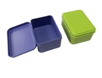 Caja de almacenamiento caja de metal caja de lata de dulces joyas 95X70X45mm rectángulo colorido té con bisagra 100pcs / lot SN1228