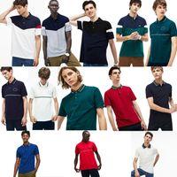 Camicie polo moda 100% cotone Francia Camicia polo in cotone coccodrillo moda uomo estate maglia manica corta uomo casual POLOS TOP