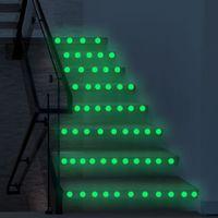 Luminous Polka Dots Circles sticker da parete per bambini Camere Soffitto Parete decalcomanie Glow in the trasporto libero scuro della buccia del bastone rotonda Art Mural