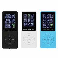 20pcs 2021 Lecteur MP3 MP4 ultra-mince MP3 de 1,8 pouce Vrai Vrai TFT Afficher la carte vidéo Multi-Fonctionnement Sports avec MX-892