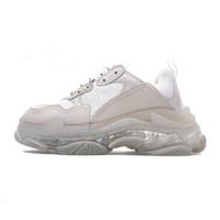Hot !! 2019 Moda Paris 17FW Triple-S Sneakers Triple S calçados casuais pai para de Homens Mulheres Bege Preto Ceahp Sports Tamanho Designer Shoe 36-45