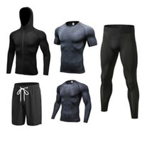 Autumn winter Sport Suit Men Fitness Workout Tracksuits Quic...