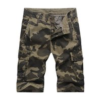 New Summer Casual Pants with Pockets 100% Cotton Mens Camo S...