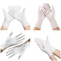 Tek toz ücretsiz zerre beyaz nitril eldiven ev sıhhi temizlik eldiveni ev lekeye karşı direnç eldivenler T3I5776