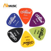 Ingrosso 1000 pezzi Alice Guitar Picks AP-600P ABS Plettro standard singolo spessore 0,58 0,71 0,81 0,96 1,20 1,50 (mm) Colore Casuale MU1760