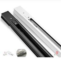 Luci della traccia Lunghezza 50 cm Lunghezza Lunghezza di alluminio 0.5 metri Slide Led Rail Spotlight Base Connettore IT Connettore Assemblare Dynasty Nave libera