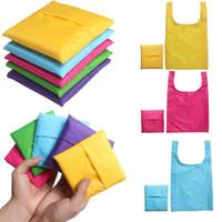 bolsas de almacenamiento portátil de compras reutilizable plegable bolsa de viaje Ambiental de ultramarinos bolso de mano baratos