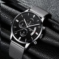 NIBOSI Men' s Watches Classic Luxury Fashion Quartz Chro...