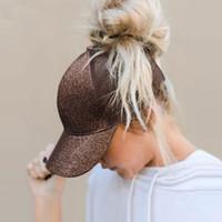 2019 포니 테일 야구 모자 여자들은 지저분한 롤빵 태양 여름 메쉬 모자 캐주얼 스포츠 모자 드롭 출하 조절할