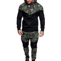Tasarımcı Şık Bar Erkekler eşofman Kapşonlu Ceket Eşofman Spor Yeni Sportwear Erkekler Jogger Seti Kamuflaj Eşofman Erkekler Clothes Suits
