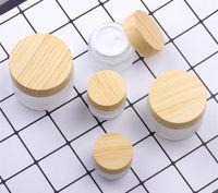 Hot 5G 10g 15g 30g 50g 100g Cosmetic Jar Cream de maquillage vide peut être rempli de bouteille d'emballage en bambou en bambou SZ352
