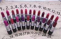 Nouveau Lipstick Maquillage Matte Maquillage Lustre Retro Rouge à lèvres Frost Sexy Matte Rouge à lèvres 3G 24 couleurs rouge à lèvres avec nom anglais