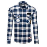 2018 новый бренд Shirs мужчины плед хлопок рубашка теплая мода Мужской с длинным рукавом повседневная рубашка мужчины молодые рубашки плюс 2XL стенд воротник для мужчин