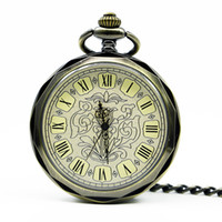 High Quality Fashion Mechanical Pocket Watch White Roman Dia...