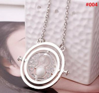 ZRM Fashion Jewelry Potter Time Turner Collar Colgante Sand Glass Necklace Para Mujeres