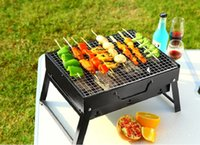 Barbecue portatile Mini Fusioni non Stick Gas Grill Pan raffinato nero del ferro Barbecue Stufa riutilizzabile in acciaio inossidabile Strumenti di cucina partito picnic
