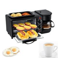 2020 HL-9L 3 in 1 Elektro Frühstück Maschine Multifunktions-Kaffeemaschine Bratpfanne Brot Pizza Mini-Backofen Haushalt Backofen Bratpfanne