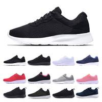 nike Дешевые дизайнер Tanjun Run кроссовки для мужчин, женщин черный низким Легкий дышащий London Olympic Sports Sneaker тренер размер 36-45