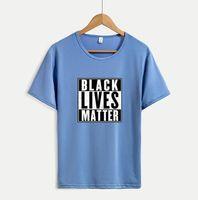 أسود الأرواح MATTER الرجال النساء تي شيرت 20SS صيف بلايز مع رسائل تنفس قصيرة الأكمام الرجال تي شيرت بلايز 4 ألوان