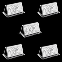 5pcs Arte e artigianato all'ingrosso 1 Troy oncia oncia tedesco bufalo argento bullion bar monete tedesche sliver 999 American Buffalo Bar