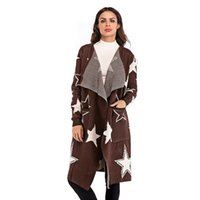 Sweater Coat Long 2018 New Autumn Winter Overcoat Women Card...
