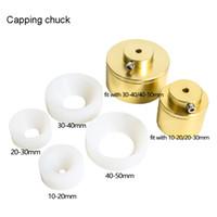 Envio Grátis! Capper Machine Chuck Cap para Capper 28-32mm 38mm 10- 50mm Garrafa de plástico redondo com anel de segurança Capping de silicone